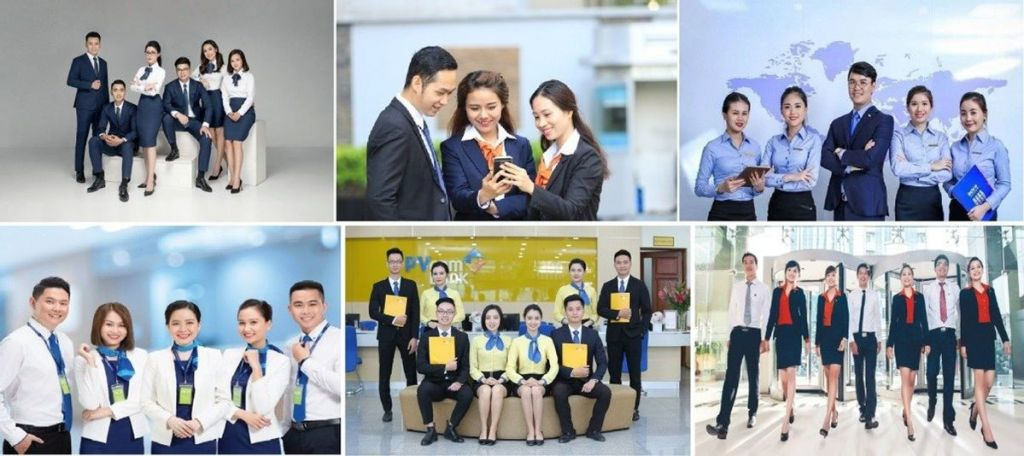 Đồng phục tại một số Ngân hàng Việt Nam